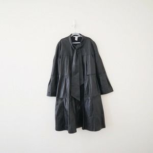 DVF Tocar Tiered Leather Coat